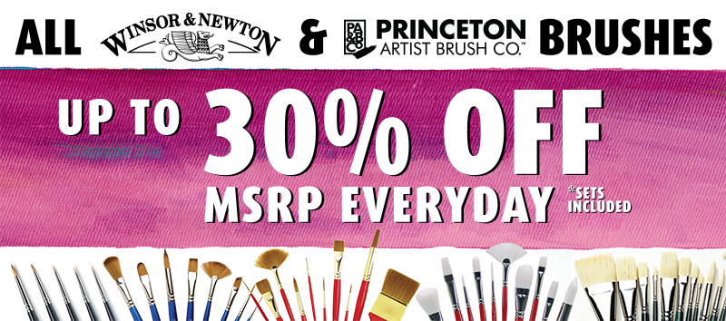 Everyday Discounts on Paint Brushes